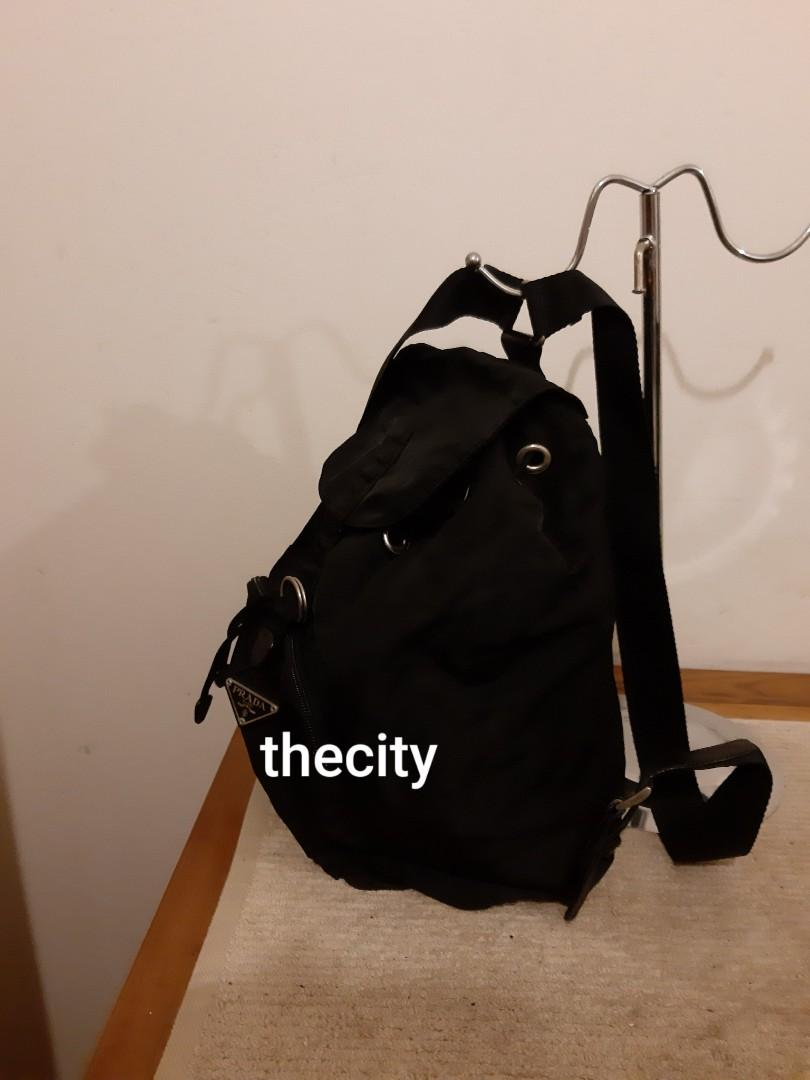 AUTHENTIC PRADA BLACK NYLON CANVAS BACKPACK - CLEAN INTERIOR, OVERALL IN GOOD CONDITION - CLASSIC TIMELESS VINTAGE PRADA, - (PRADA BACKPACKS NOW RETAIL NEARLY RM 6000+)