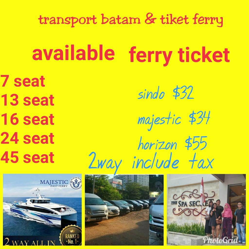 Batam transport & ferry ticket (http://www.wasap.my/+6285765150288