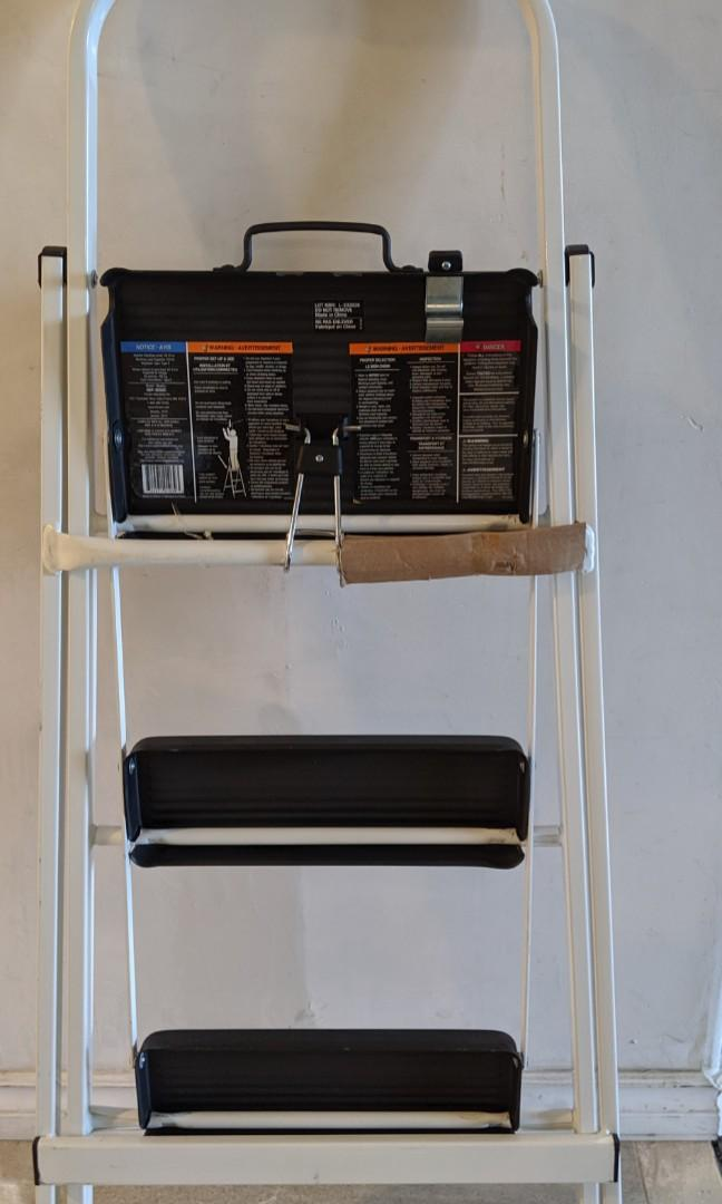 Brand New Skinny Mini 3-Step Steel Step Stool Ladder