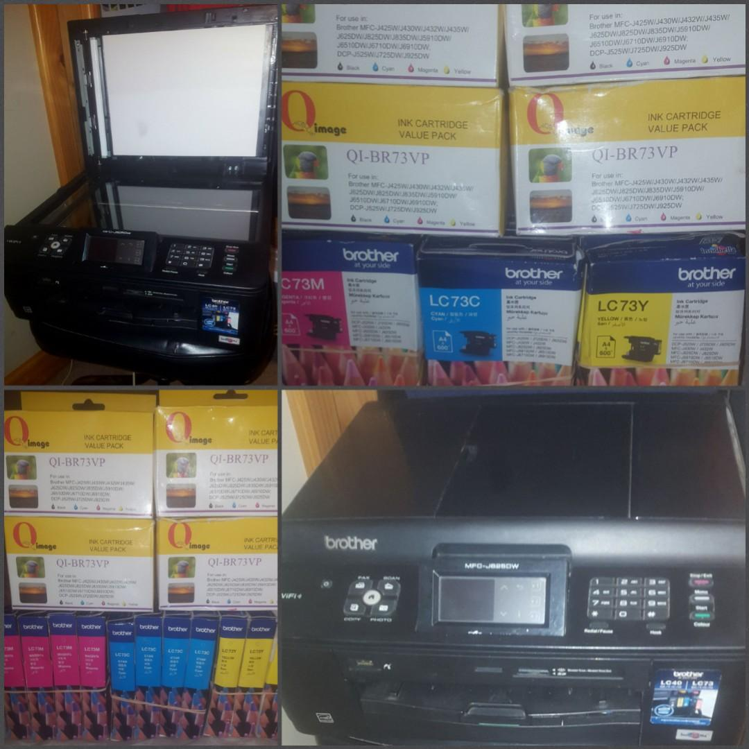 Brother~ All In One~ Touch Screen ( 16 BOX'S NEW INK CARTRIDGES MIXED COLORS)