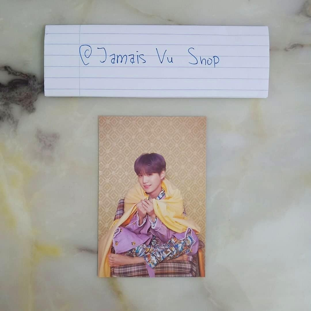 BTS MAPS OF THE SOUL: PERSONA OFFICIAL SUGA POSTCARD