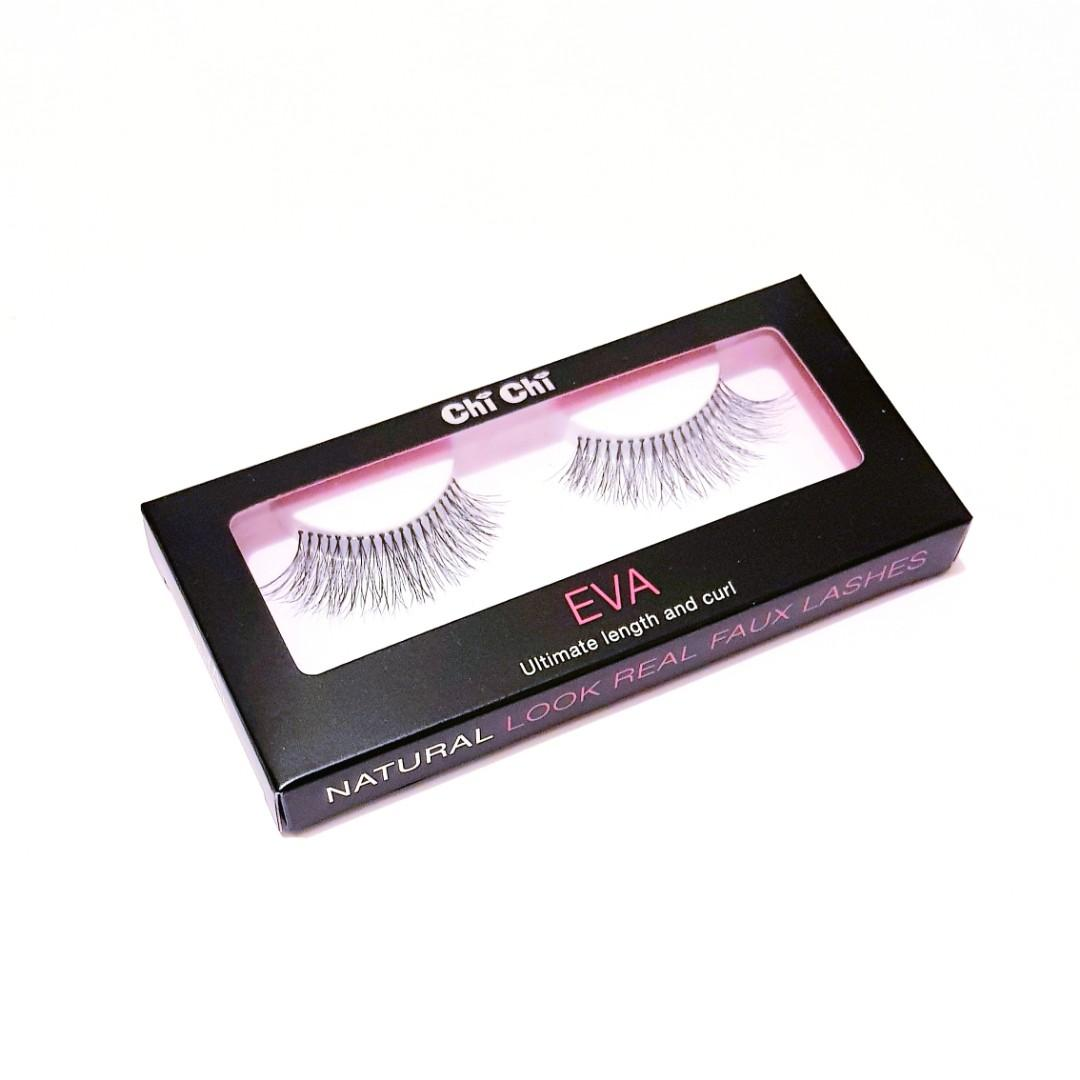 Chi Chi Cosmetics Ultimate Cat Winged Eye Length & Curl Natural Fibre Soft Volume Look Real Faux Fake False Eye Lash Eyelashes