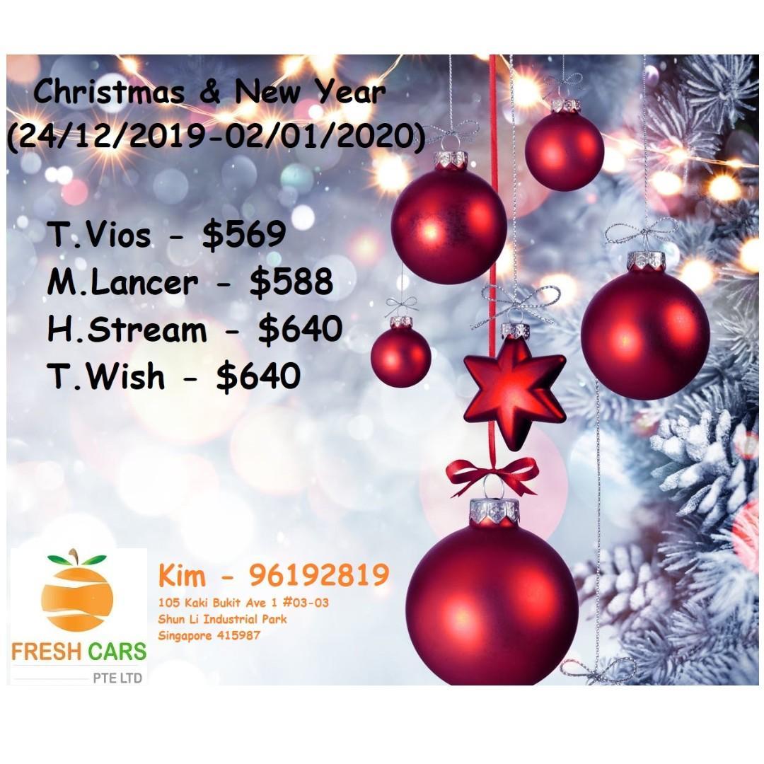 Christmas & New Year Promo Toyota Wish Honda Stream