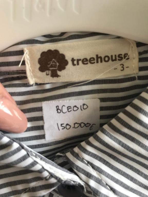 Dress kemeja treehouse anak umur 3-4 th