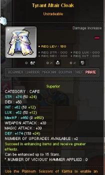 Maplestory Tyrant items