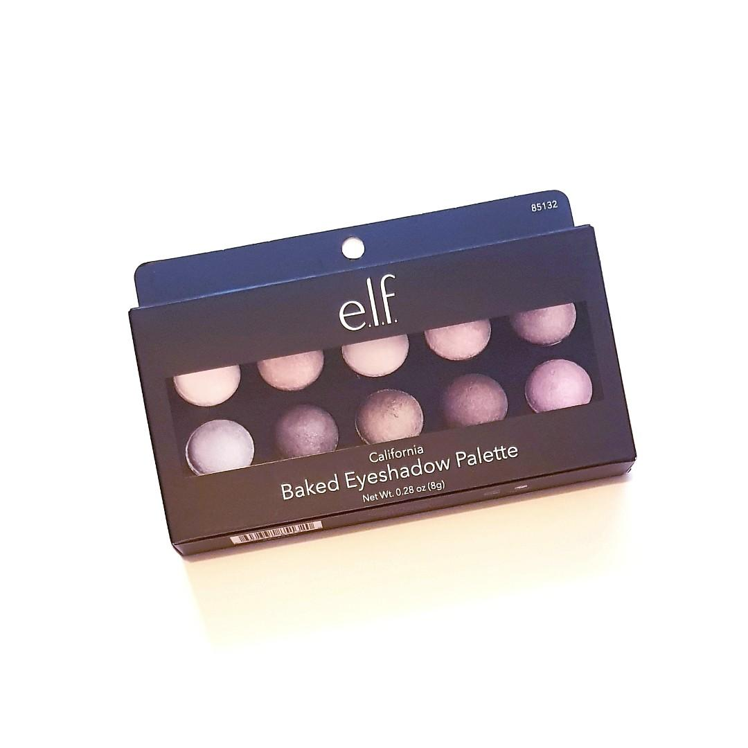 E.l.f. Cosmetics California Pigment Rich Blended Vibrant Effect Bake Eyeshadow Eye Powder Palette