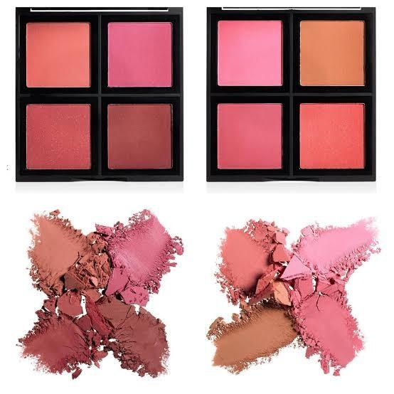 E.l.f. Cosmetics Richly Pigmented Matte Shimmery Contour Shade Sculpt Highlighting Blush Shade Powder Palette