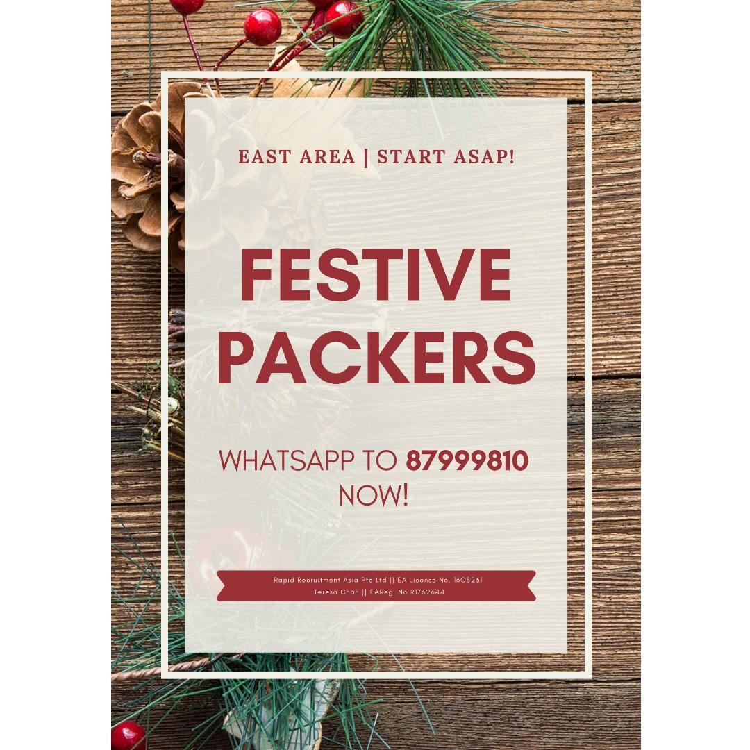 Festive Packers @ East (Gifts | $360/week | Start ASAP!)
