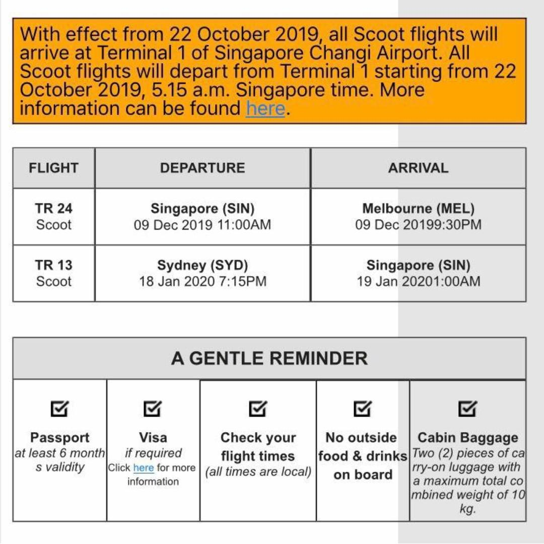 Flight tickets Singapore Melbourne Sydney