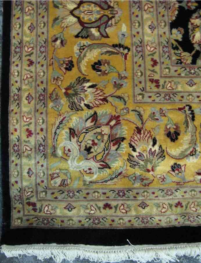 Ghoum Lotus | 12 x 9 ft | 80% Pure Silk 20% Pure Wool | Handmade | Brand New
