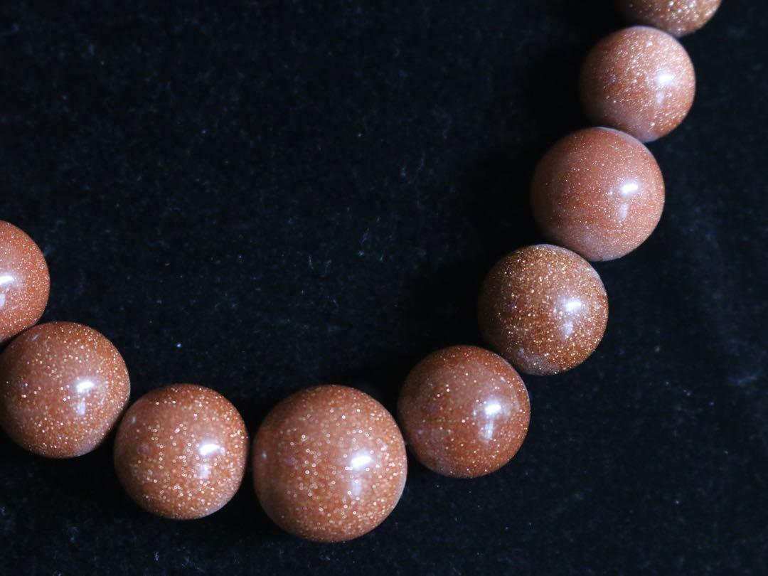 Gold sandstone necklace