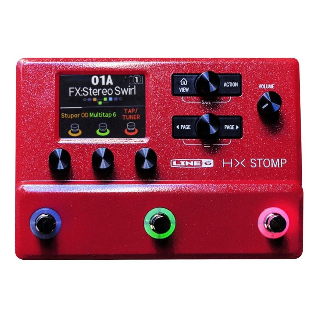 Line 6 HX Stomp Red Limited Edition Guitar Multi-effects Floor Processor (last set) (limited time)