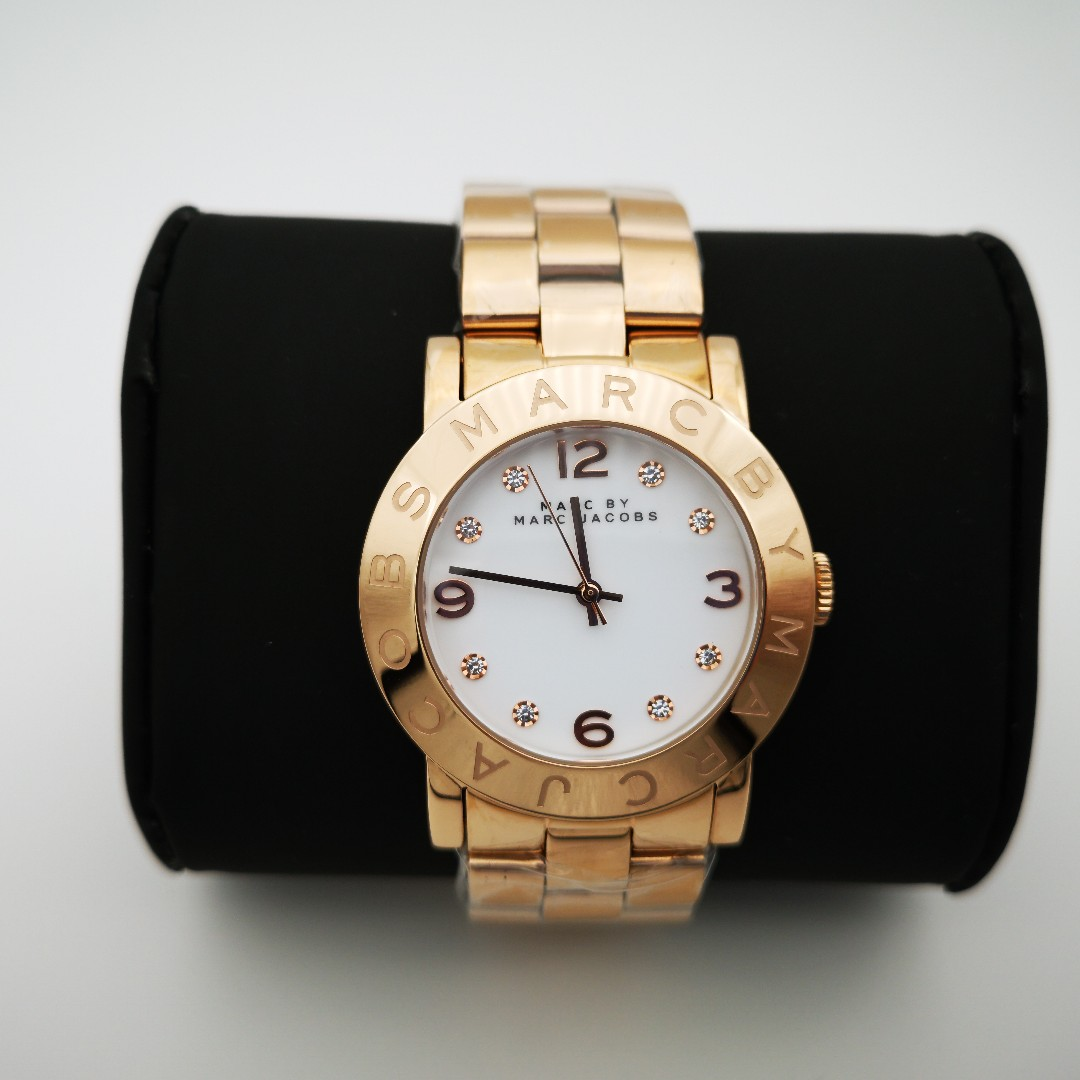 MARC JACOBS MBM3077 White Dial Rose Gold-Tone Ladies Watch