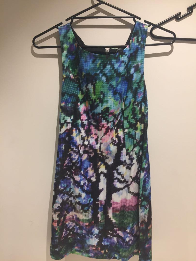 Never worn graphic print bodycon Portmans dress size 10