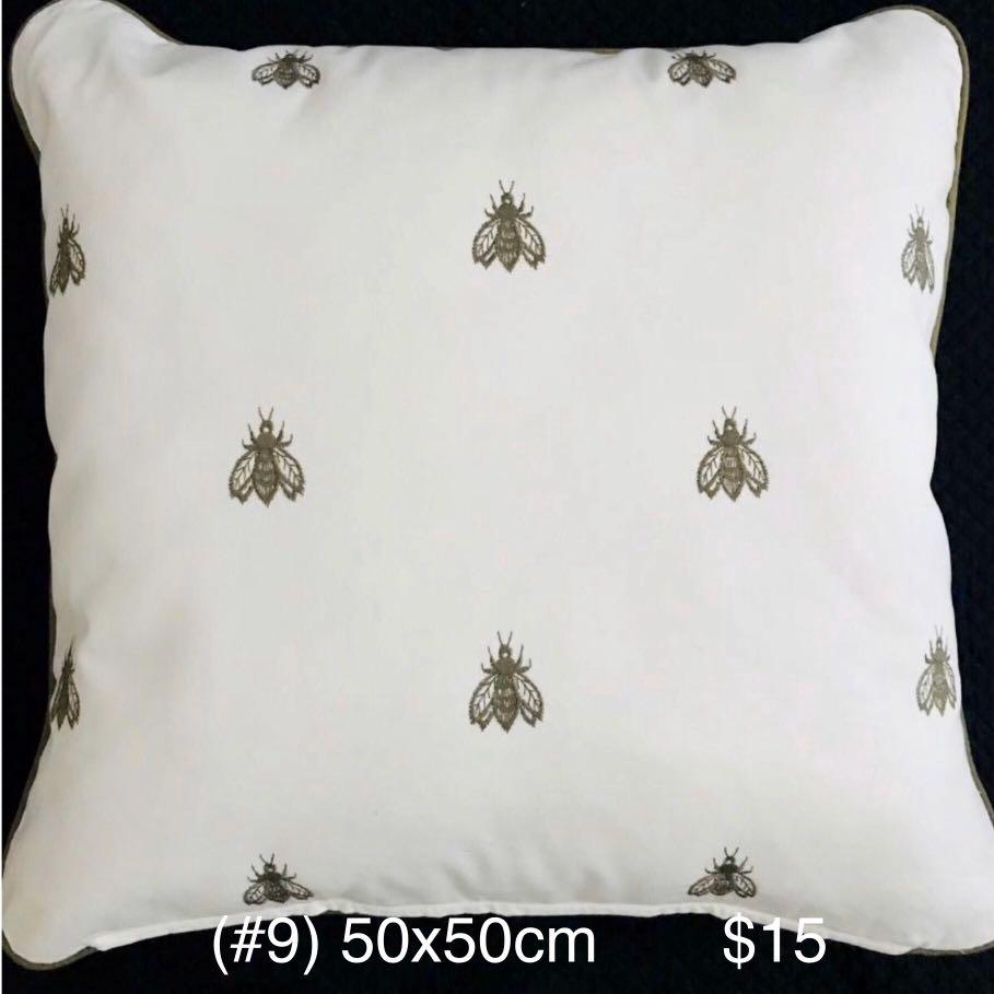 [NEW] Insects Embroidery Cushion with Matching Pipings