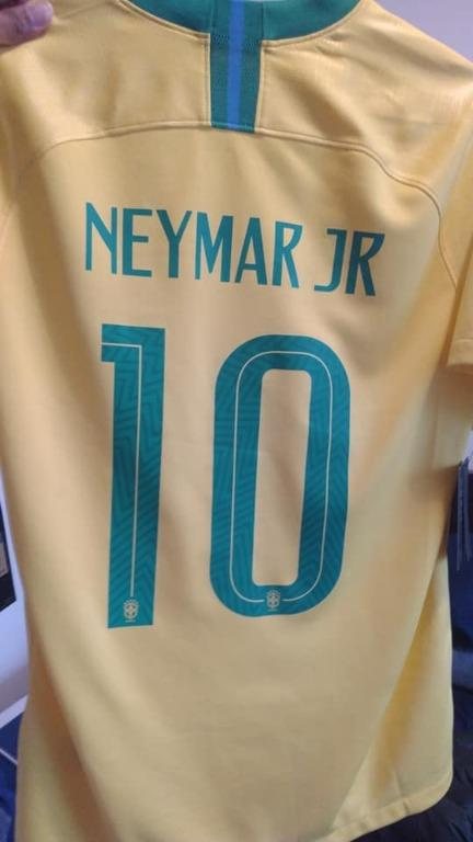 Nike 2018 - 2019 Home Jersey ( 10 - NEYMAR JR ) Medium size