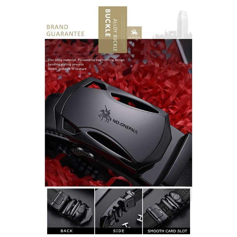 NO.ONEPAUL Tali Ikat Pinggang Luxury Automatic Buckle - WQE789 TItanGadget