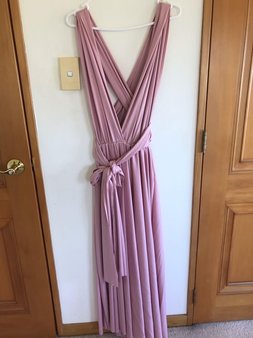 Pink multi way dress
