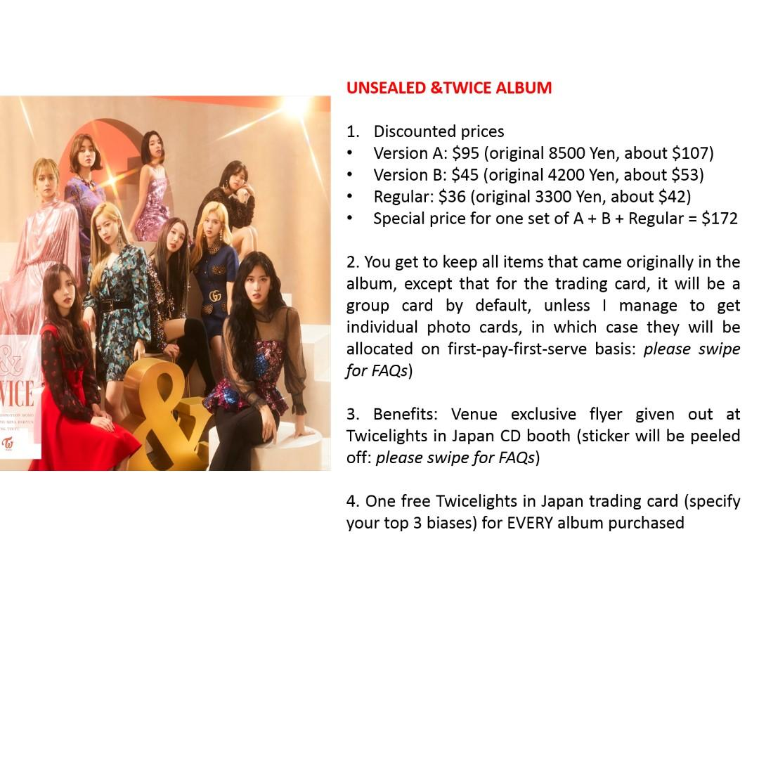[Order by 18/11] &Twice Albums
