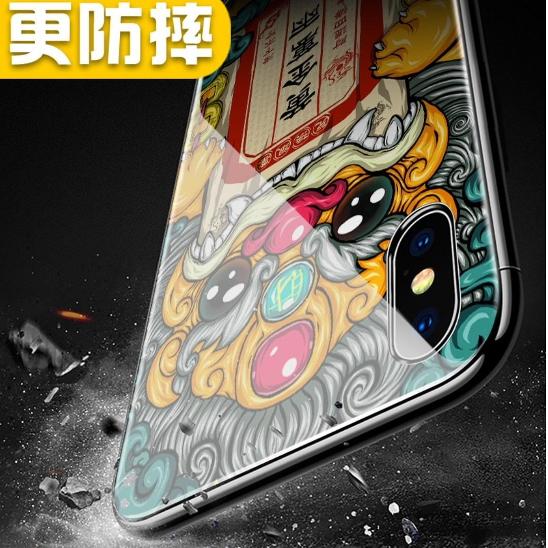 PROMO 💥iPhone XS Max Tempered Glass Casing - 兔爷送福💥
