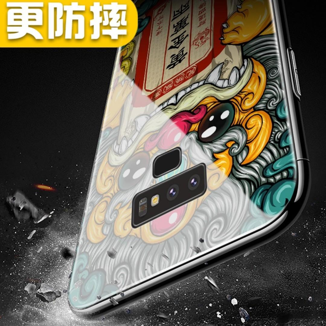 PROMO💥Samsung Galaxy Note 9 Tempered Glass Casing - 奉旨发财💥