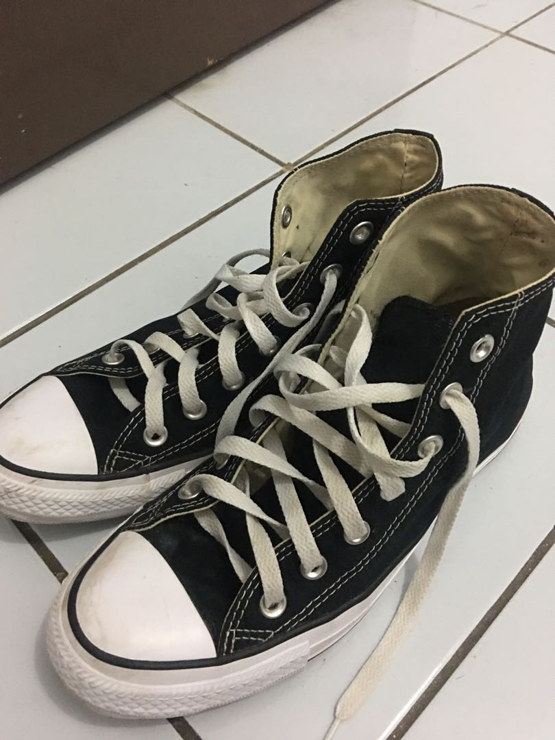 Sepatu Converse Hightop Hitam Putih  Original
