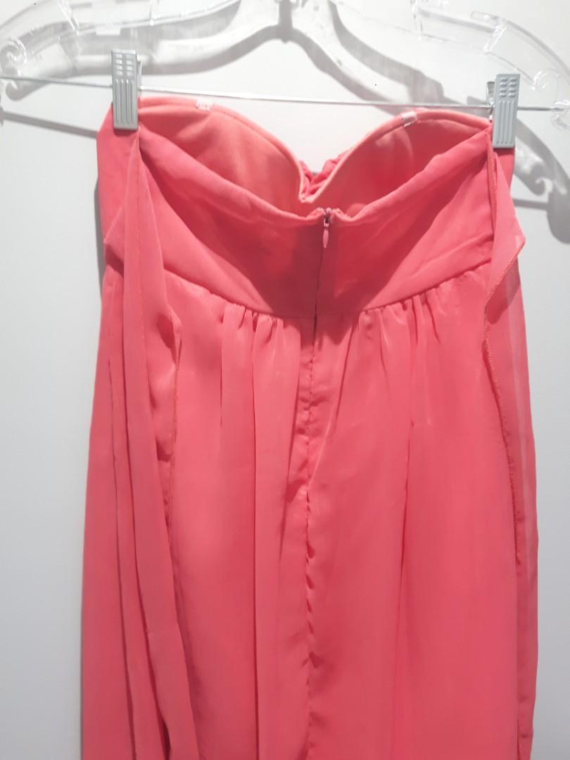"""LOWERED:Special Occasion Pastel Coral Dress Size Small (just above knee not too short on a 5'6"""" female)"""