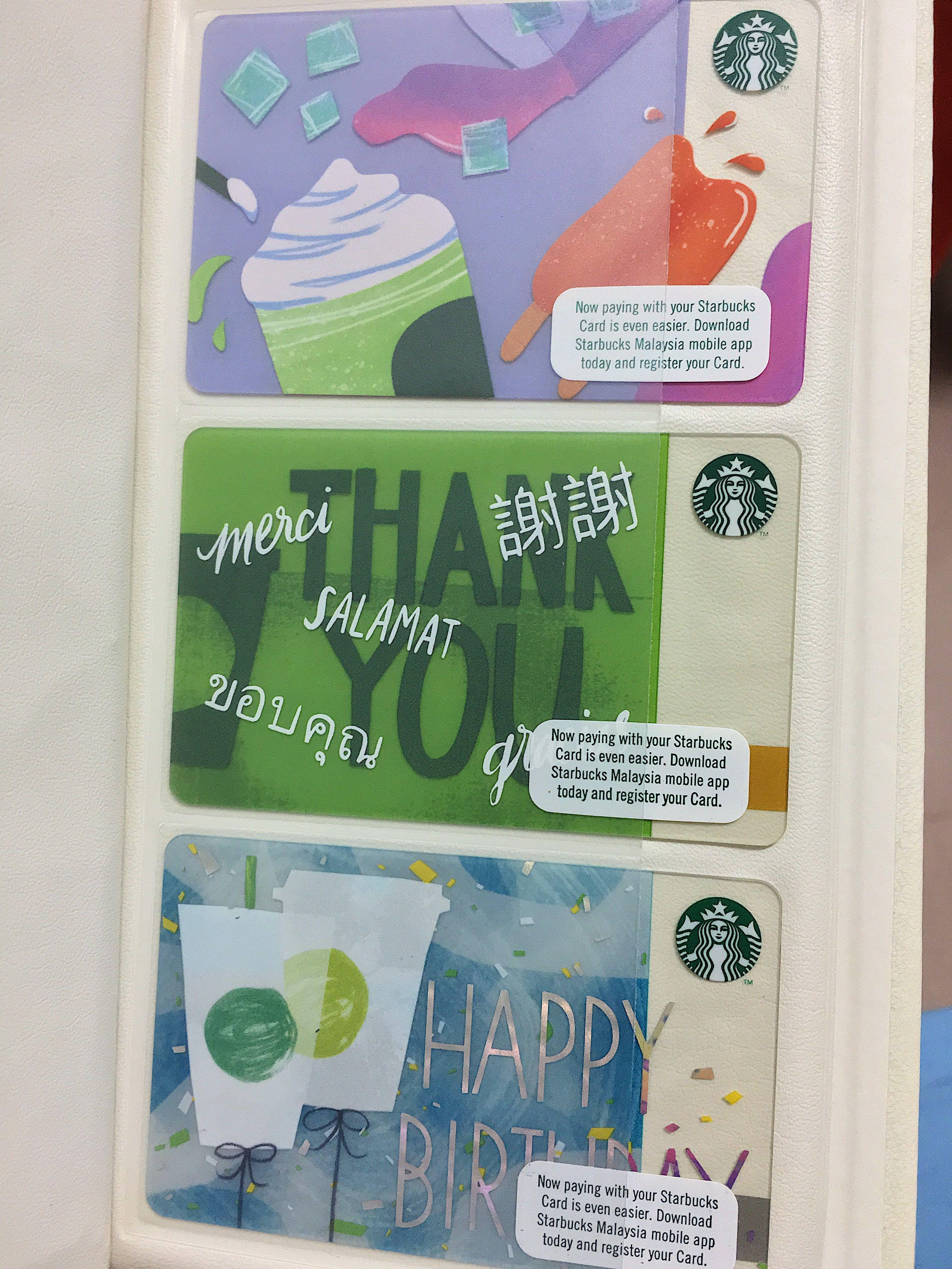 Starbucks Gift Cards (Used/Registered)
