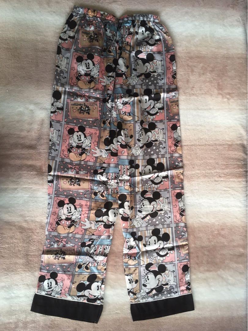 Super Soft Satin Silk Cute Mickey Pyjamas Set - Brand New