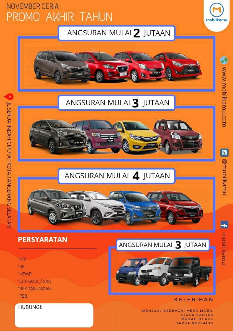 Toyota,Honda,Daihatsu,Suzuki,Wuling,Nissan,Datsun,Mitsubishi