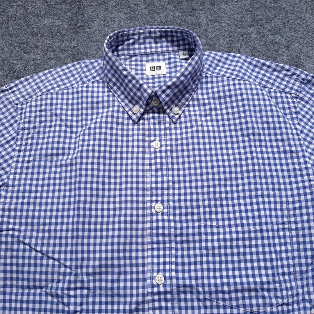 UNIQLO Button-down Gingham Shirt Long Sleeve Size S