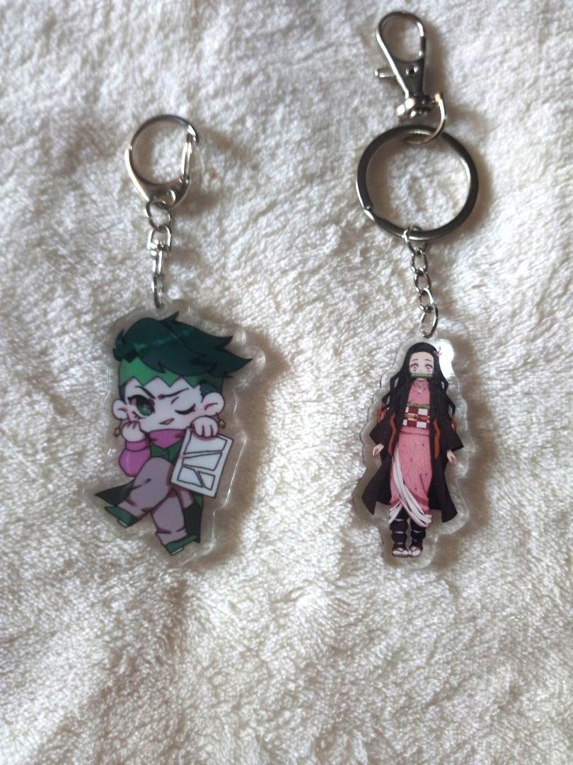 (UNOFFICIAL) JJBA Rohan KNY Nezuko  acrylic keychains