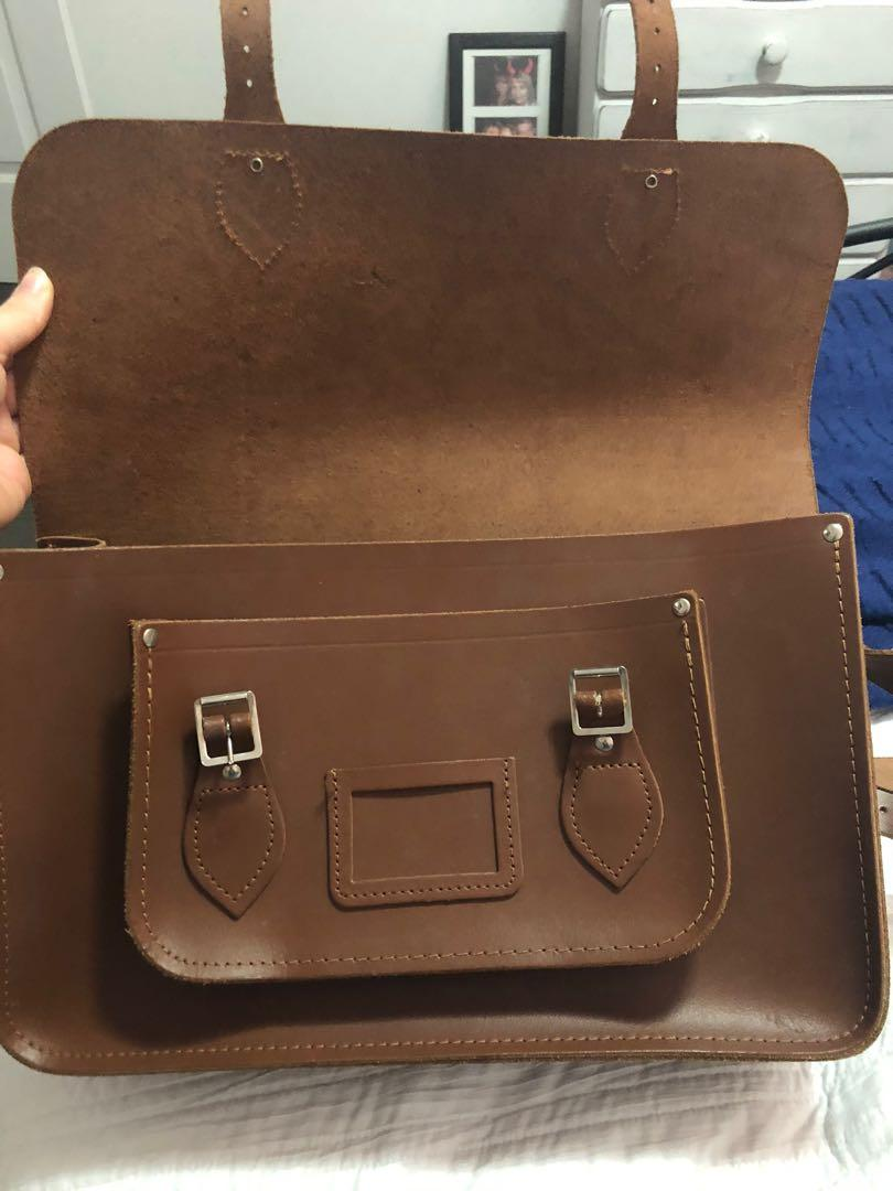 """Vintage The Cambridge Satchel Company 14"""" Brown Leather- Near Perfect Condition"""