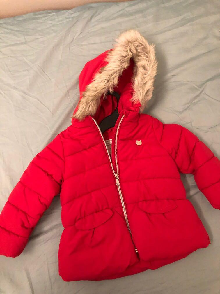 Zara winter jacket for toddler girl