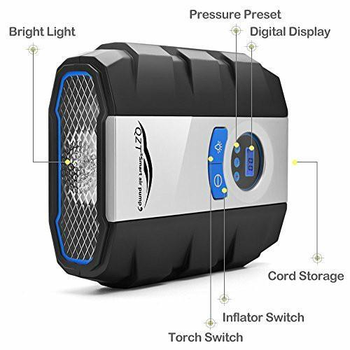 Zeepin flashlight digital portable air compressors Tyre inflator