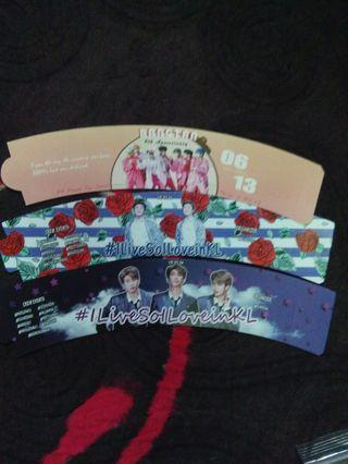 Bts cup sleeve and other merch for free