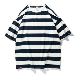 全新出清🔥 AVENIR|美式純棉 條紋 落肩寬鬆 oversize 圓領T恤 男女