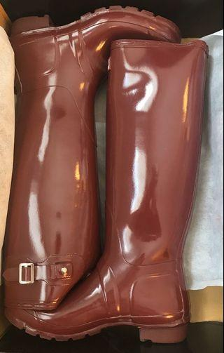 Hunter Boots (Size 9, Wide Calf)