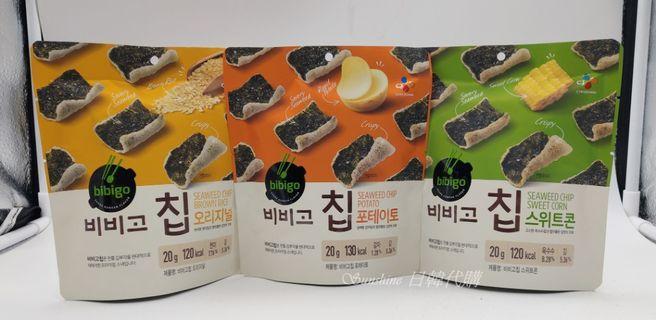 現貨+預購 韓國 CJ bibigo 必品閣 海苔鍋巴餅乾 原味 玉米 馬鈴薯 20g
