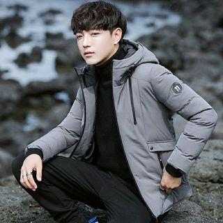 Winter new Korean version of the hooded down jacket Thicker version Men and women can wear Windproof jacket Warm coat thick coat Couple jacket Couple clothes Joker cotton jacket Long sleeve hooded jacket