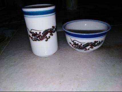 Small bowl & small wine set