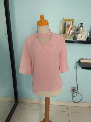 Pink sleevebell blouse