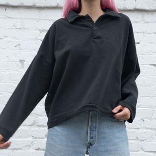 Brandy Melville Quarter Button-Up Sweatshirt