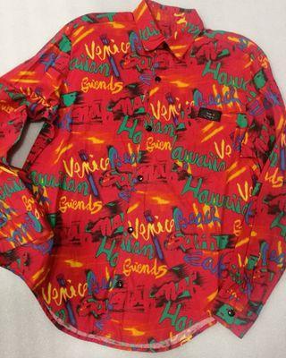 Hawaii colour block shirt