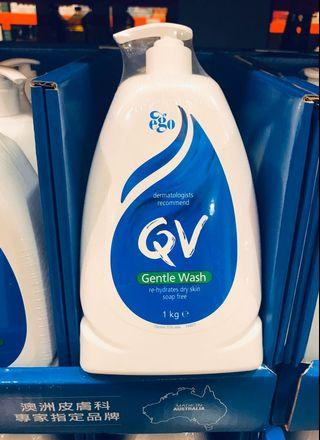 Costco好市多 QV 舒敏加護潔膚乳1kg  沐浴乳 臉全身適用