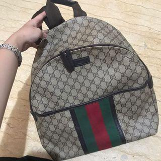 Gucci bagpack authentic leather