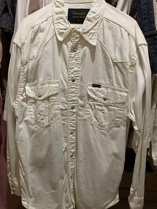 Wranglers Shirt ( Kemeja Putih denim )