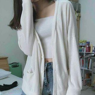 溫柔風 針織外套 罩衫 落肩