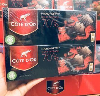 Costco好市多 COTE D'OR 70%可可黑巧克力 180g x2盒入  dark chocolate
