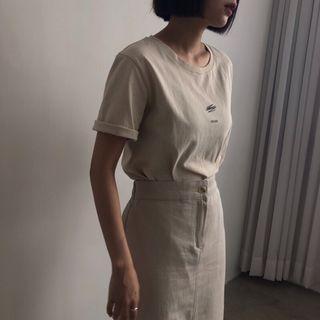 [未使用 免運]正韓 轉賣 relax奶茶色短袖上衣